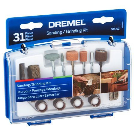 Dremel 686-02 Sanding/Grinding Rotary Tool Mini Accessory Kit