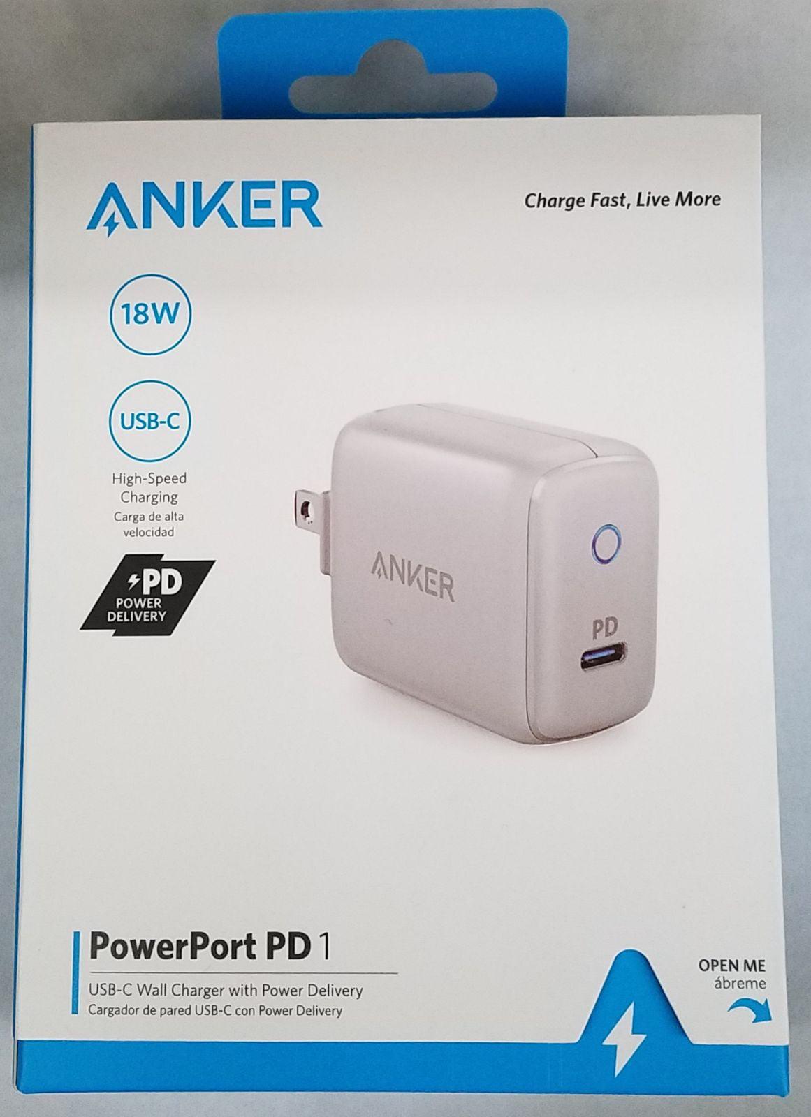 Anker Powerport Pd 1 Port (18w) Wall Cha