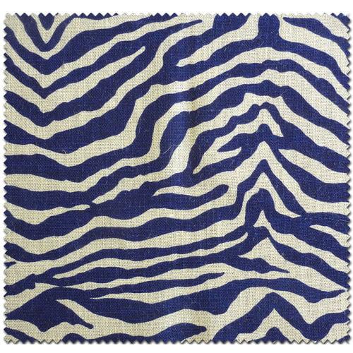 Textile Creations Home Decor Burlap, Zebra & Royal Blue Fabric, per Yard