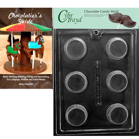 Cybrtrayd XL Peanut Butter Cup Chocolate Candy Mold with Our Chocolatier