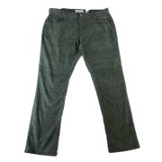 INC NEW Forest Night Green Mens Size 38X30 Slim Straight Corduroys Pants