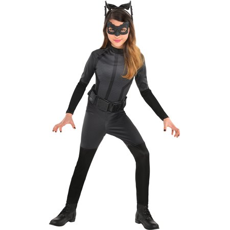 Suit Yourself Batman: The Dark Knight Rises Black Catwoman Costume for Girls, Includes an Eye Mask and More