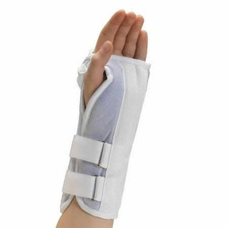 OTC Kidsline Wrist Splint - Soft Foam, Left Hand, White, Pediatric