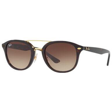 Ray-Ban RB2183 122513 Highstreet Double Bridge Tortoise Frame Brown Gradient Lens Sunglasses (Rayban Square Sunglasses Men)