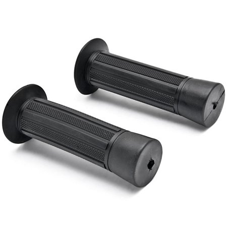 "Kapsco Moto Pair Custom NEW Style Motorcycle Street Bike Black Hand Grips (7/8"" Handlebars) - image 1 of 4"