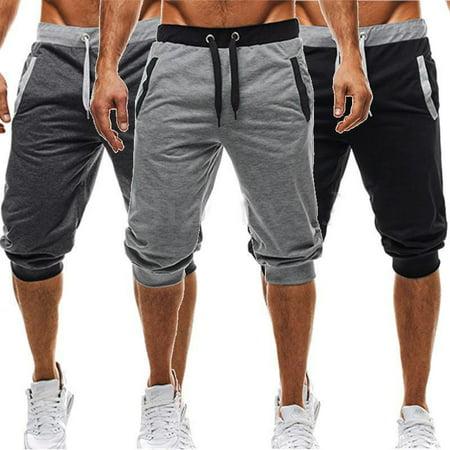 Mens Slim Fit Jogging Bottoms Skinny Tracksuit Joggers Pants Sweatpants