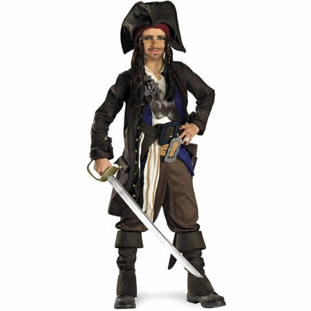 Pirates of the Caribbean Captain Jack Sparrow Prestige Teen Halloween Costume
