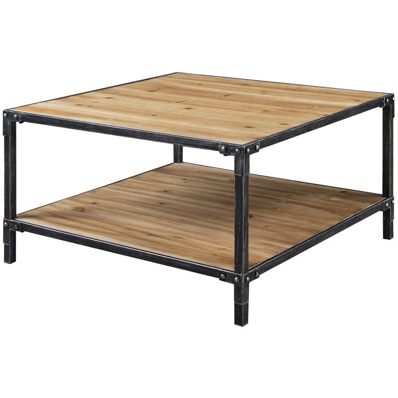 Convenience Concepts Laredo Square Coffee Table in Black - image 3 of 3