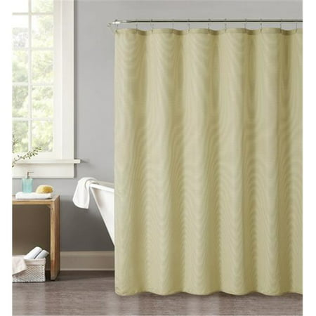 Luxury Home Pick Stitch Jacquard Shower Curtain Set Yellow 72 X 72 Inch 13 Piece Set