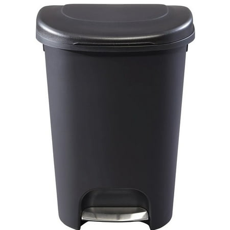 Rubbermaid 1906460 13 Gallon Black Step-On Trash Can