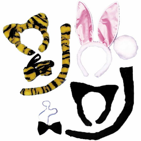 Tiger Kit Ears/Tail/Collar Adult Halloween Accessory