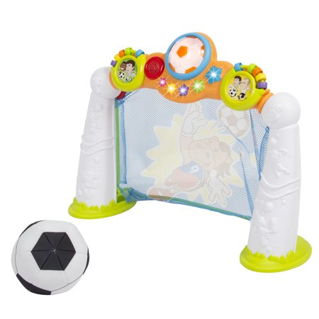 Best Choice Products Toy Soccer Goal Scoring Game w/ 3 Modes and Plush Soccer Ball for Kids and Toddlers - Multicolor