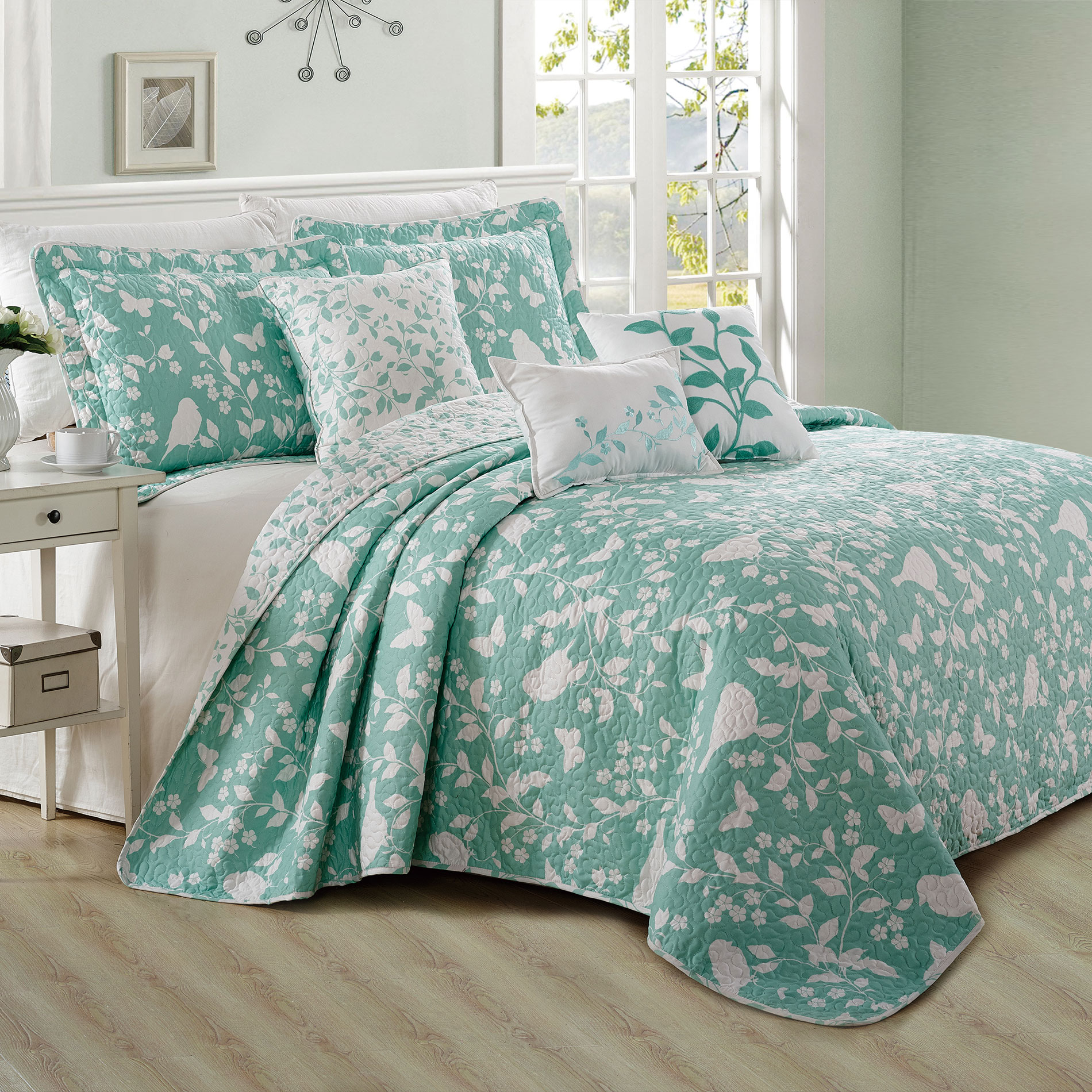 Serenta Birdsong 6 Piece Bed Spread Set