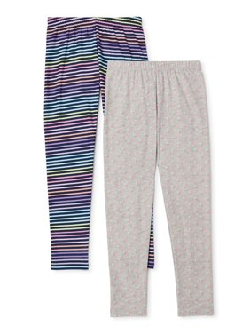 p.s.09 from Aeropostale Girls 4-16 Stripe and Printed Leggings, 2-Pack (Little Girls & Big Girls)