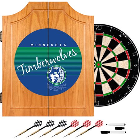 Minnesota Timberwolves Hardwood Classics NBA Wood Dart Cabinet by