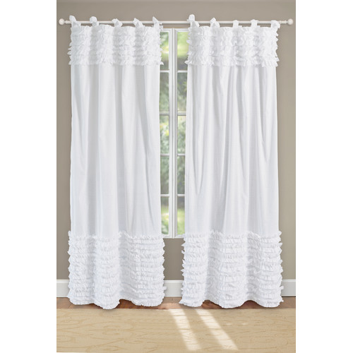Marvelous Greenland Home Fashions Lush Solid Sheer Tab Top Curtain Panels (Set Of 2)