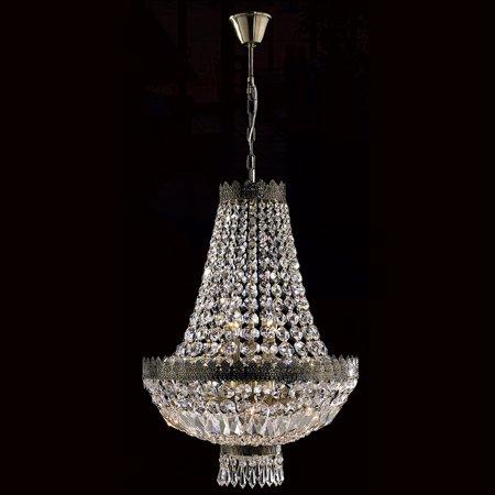 Worldwide Lighting W83084B16 Metropolitan 6-Light Single Tier Chandelier with Clear Crystals