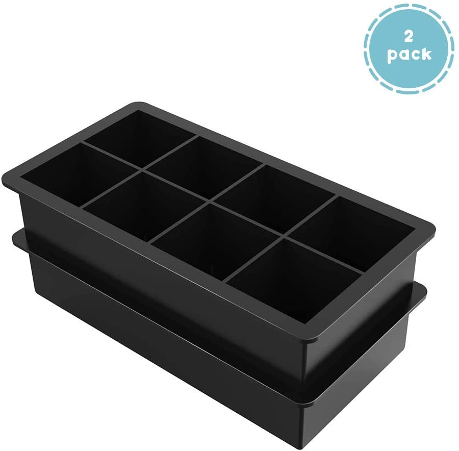 14 Cavity Ice Cube Tray Box With Lid Cover Drink Jelly Freezer Mould Maker MP