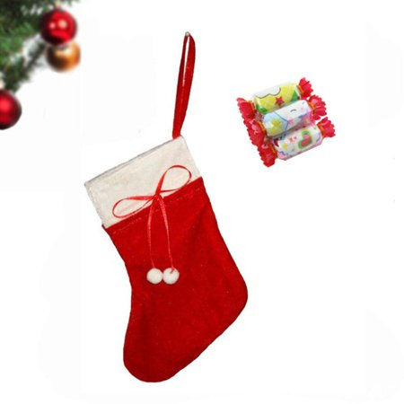 Christmas Sock Red Christmas Stockings Gift Bag Tree Hang Christmas Decorations Socks Great