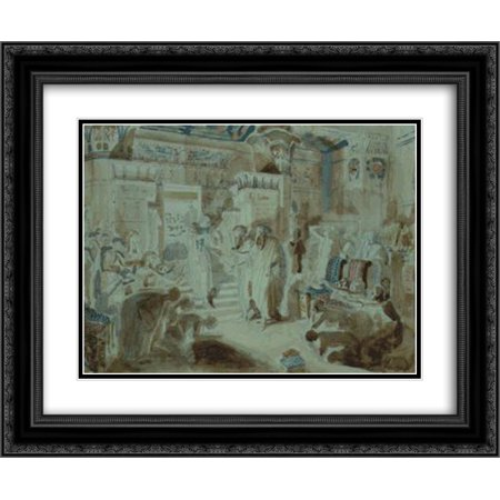 Alexander Ivanov 2X Matted 24X20 Black Ornate Framed Art Print Pharaoh Asked Moses To Bring Jewish People Out Of Egypt