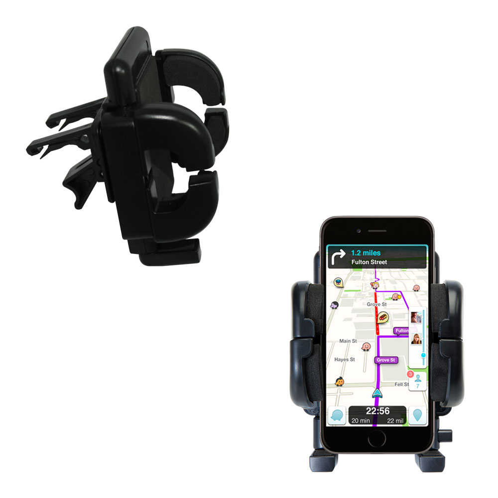 Gomadic Air Vent Clip Based Cradle Holder Car / Auto Mount suitable for the Apple iPhone 6 - Lifetime Warranty