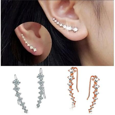 Fanciful 7 Swarovski Crystals Ear Hook Earrings