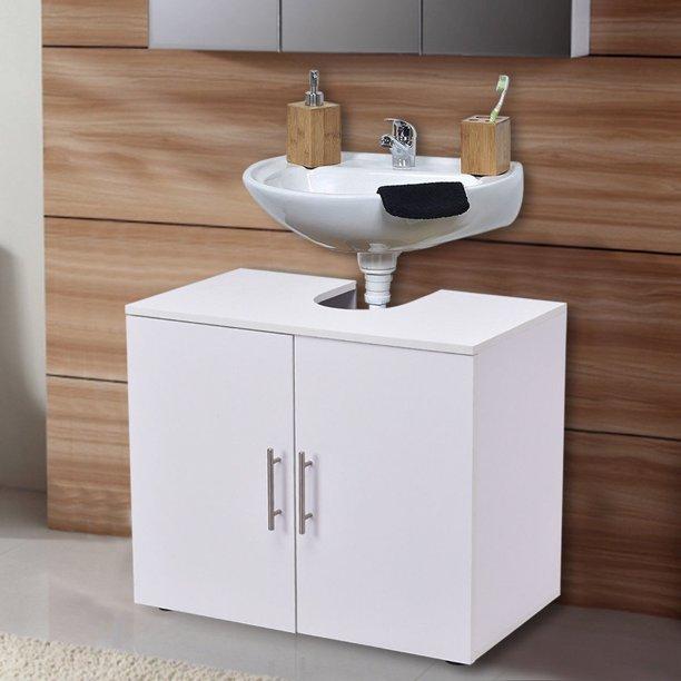 Costway Non Pedestal Under Sink Bathroom Storage Vanity Cabinet