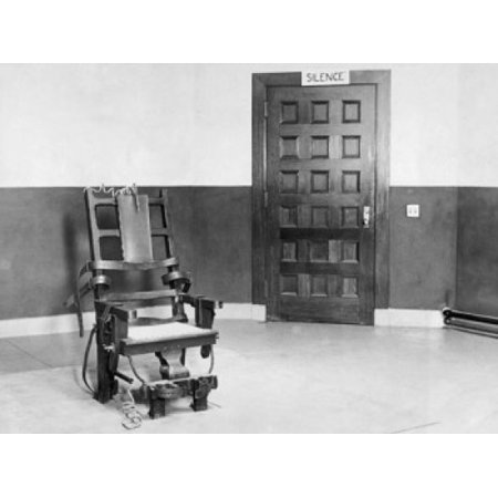 Electric chair in an empty room Stretched Canvas -  (24 x 36)](Halloween Electric Chair Ideas)
