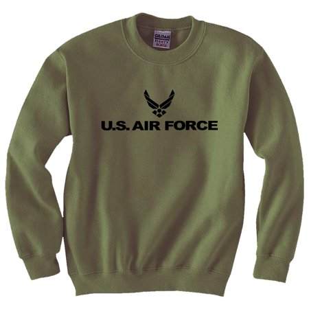 Air Force - Military Style Physical Training Crewneck Sweatshirt in Military -