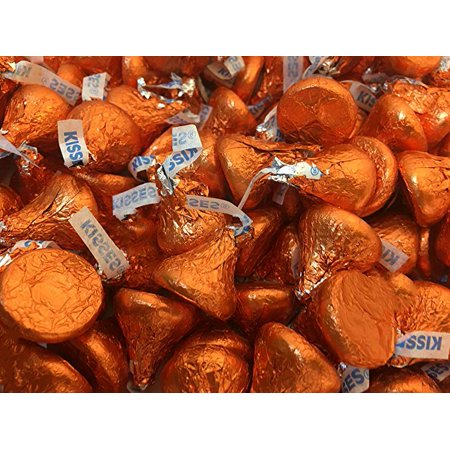 Kisses Candy, Milk Chocolate Orange Wrap, 2 Pounds - Easter - Orange Wrapper Halloween Candy