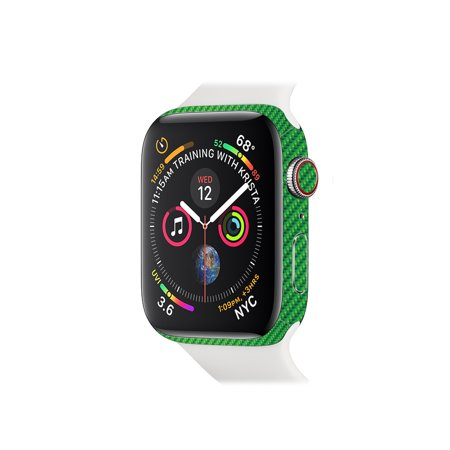 Skin for Apple Watch Series 4 44mm - Lime Carbon Fiber   Protective, Durable, and Unique Vinyl Decal wrap cover   Easy To Apply, Remove, and Change Styles