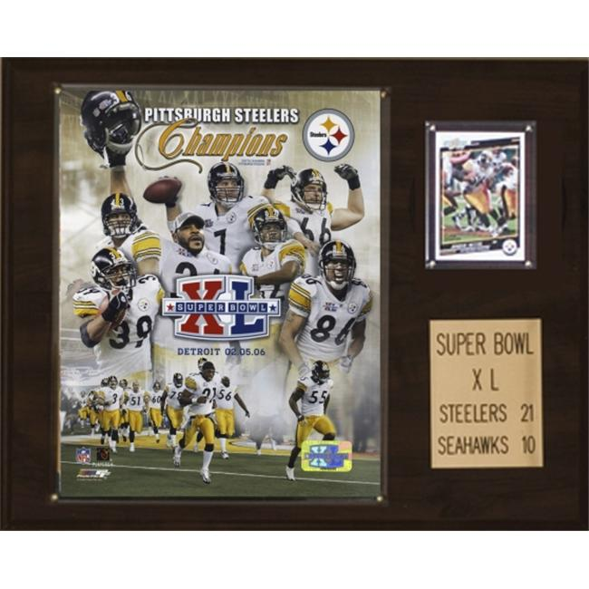 C & I Collectables 1215SB40 NFL Steelers Super Bowl XL Champions Plaque