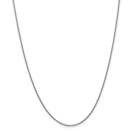 14k WG 1.5mm Solid Polished Cable Chain (Weight: 2.8 Grams, Length: 18 Inches) - image 4 of 4