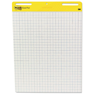 Self Stick Easel Pads, Quadrille, 25 x 30, White, 2 30 Sheet Pads/Carton, Sold as 1 Carton, 2 Pad per Carton