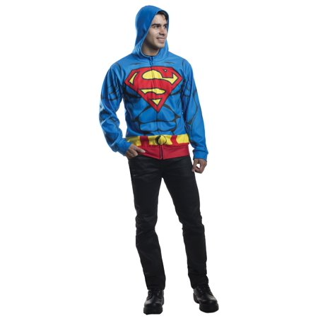Adult Superman Hoodie Costume by Rubies 810467](Superhero Yellow And Blue Costume)