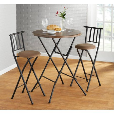 Mainstays 31 Quot Round High Top Faux Wood Table Walmart Com
