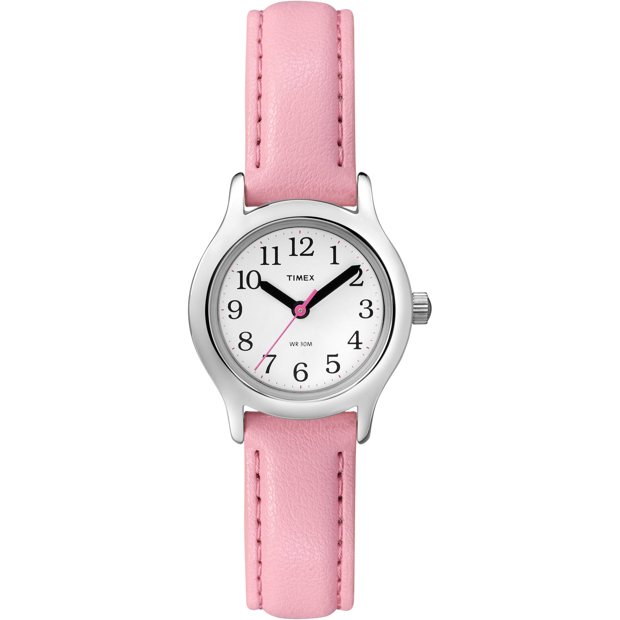Timex Kid's My First Timex Easy Reader Watch, Pink Synthetic Leather Strap