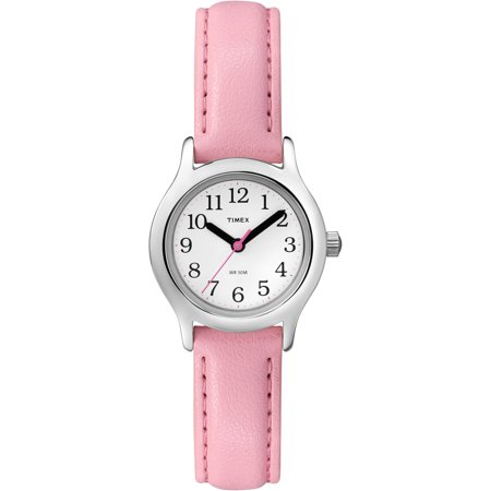 Timex Kids' My First Timex Easy Reader Watch, Pink Synthetic Leather Strap