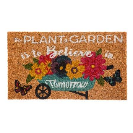 August Grove Berens Plant Garden Coir Doormat