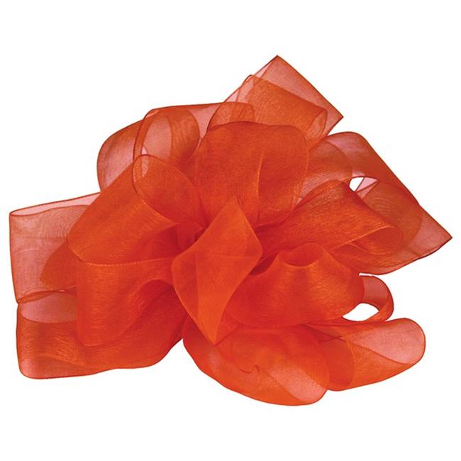 Offray 978863 0. 25 inch Simply Sheer Asiana Rust Ribbon, 100 Yards