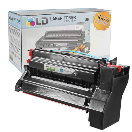 LD Compatible High Yield Black Laser Toner Cartridge for Lexmark 10B042K