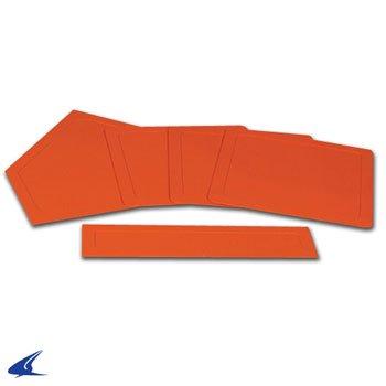 New Orange Rubber - Rubber Throw Down Baseball Base Set- Orange, Set of 5