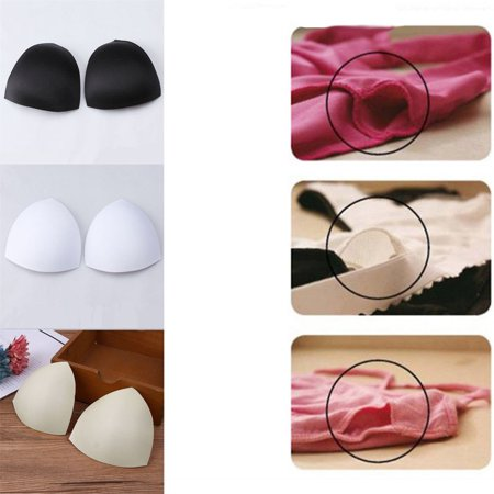 1 pair Bra Cup Pads Insert Triangle Chest Breast Bikini Underwear Sport