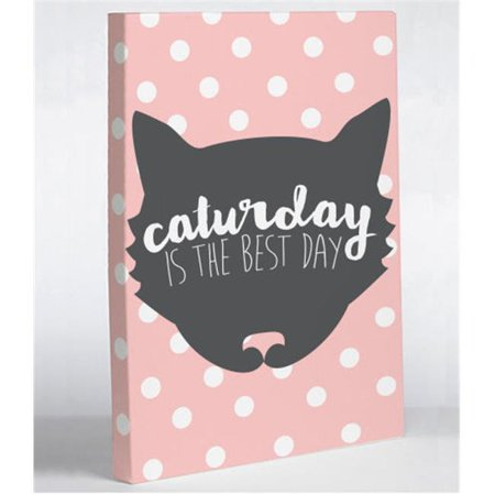 One Bella Casa 74623WD11 11 x 14 in. Caturday Is The Best Day Canvas Wall Decor,
