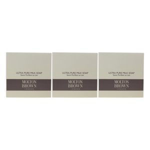 Molton Brown Ultra Pure Milk Soap 1.76oz|50g New In Box (Pack Of 3)