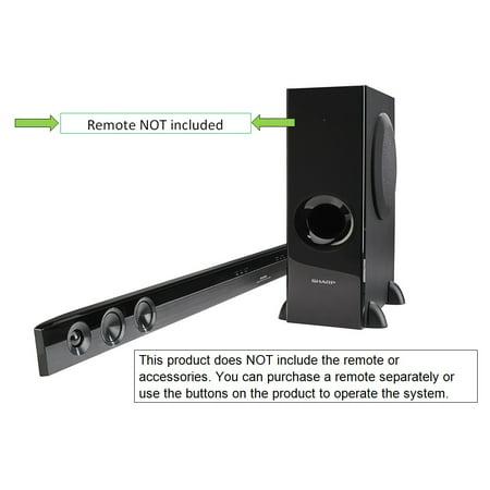 Sharp 2 1 Channel Bluetooth 310 Watt Sound Bar Speaker Home Theater System With Wireless