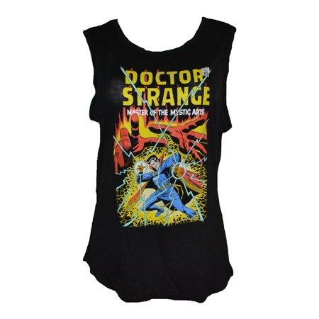 fb0a016cebab MARVEL - Marvel Doctor Strange Classic Comic Scene Graphic Juniors  Muscle/Tank T-Shirt (XL) W43 - Walmart.com