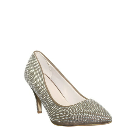 Sanzi8 by 6, Crystal Rhinestone Stiletto Pumps - Womens Pointed Toe High Heels Enameled High Heel Crystal