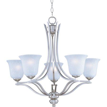 Maxim Lighting Madera Satin Silver Single-tier Chandelier w/ 5 Light 100W -