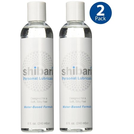 Shibari 8oz (2pk) Premium Personal Lubricant Water Based Lube - Free 2 Day Priority Shipping